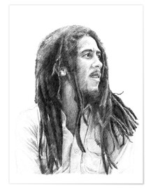 Poster Premium  BOB MARLEY alternative fan art - Cultscenes