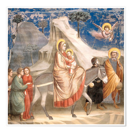 Poster Premium  The Flight to Egypt - Giotto di Bondone