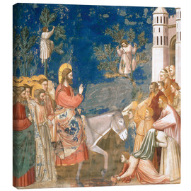 Stampa su tela  The Entry into Jerusalem - Giotto di Bondone