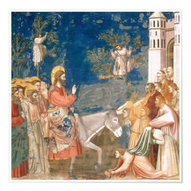 Poster  The Entry into Jerusalem - Giotto di Bondone