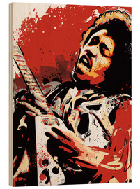 Legno  alternative jimi hendrix street art style illustration - 2ToastDesign