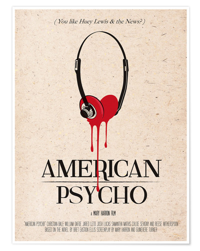Poster Premium American Psycho (inglese)