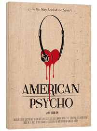 Legno  alternative american psycho retro movie poster - 2ToastDesign