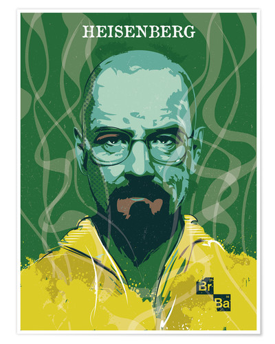 Poster alternative heisenberg breaking bad portrait design