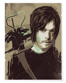 Poster Premium  Daryl Dixon, The Walking Dead - 2ToastDesign