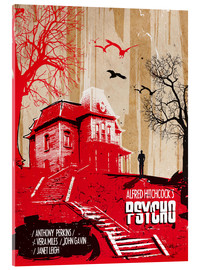 Vetro acrilico  alternative psycho movie poster - 2ToastDesign