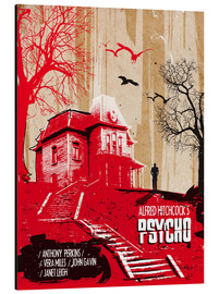 Alluminio Dibond  alternative psycho movie poster - 2ToastDesign