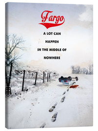 Stampa su tela  alternative fargo retro movie poster - 2ToastDesign