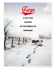 Poster Premium alternative fargo retro movie poster
