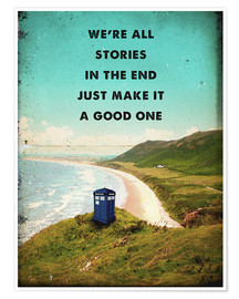 Poster  alternative dr who tardis movie poster - 2ToastDesign