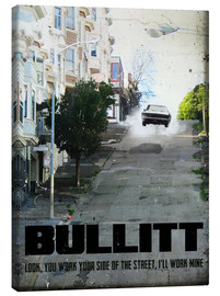 Stampa su tela  alternative bullitt retro movie poster - 2ToastDesign