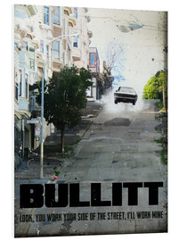 Stampa su schiuma dura  alternative bullitt retro movie poster - 2ToastDesign