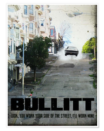 Poster alternative bullitt retro movie poster