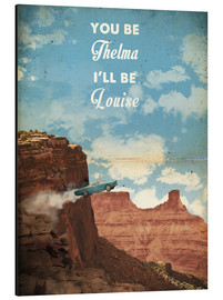 Alluminio Dibond  alternative thelma and louise retro movie poster - 2ToastDesign