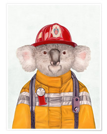 Poster Premium  Koala Firefighter - Animal Crew