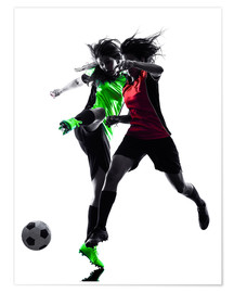 Poster Premium  two soccer players