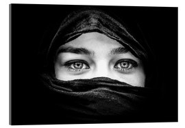 Woman with black scarf