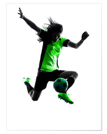 Poster Premium  soccer player