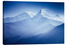 Stampa su tela  Annapurna mountains in sunrise light