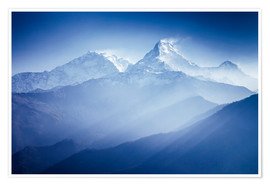 Poster Premium  Annapurna mountains in sunrise light