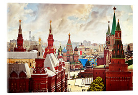 Vetro acrilico  Aerial view of the Kremlin in Moscow, Red Square
