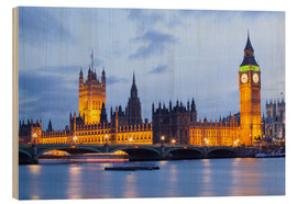 Stampa su legno  Big Ben and Westminster Bridge in London