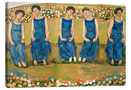Stampa su tela  The Holy Hour - Ferdinand Hodler
