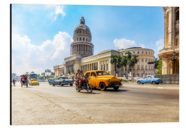 Stampa su alluminio  Havana Capitol with Oldtimer - Reemt Peters-Hein