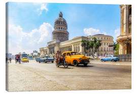 Tela  Havana Capitol with Oldtimer - Reemt Peters-Hein