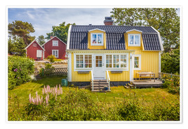 Poster  Idyllic summer house on the island Landsort (Sweden) - Christian Müringer