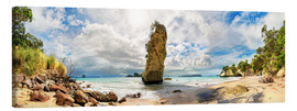 Stampa su tela  Dream beach - Cathedral Cove Beach - New Zealand - Michael Rucker