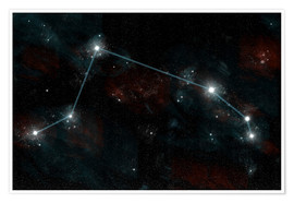 Poster Premium  Artist's depiction of the constellation Aries the Ram. - Marc Ward