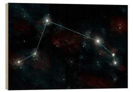 Stampa su legno  Artist's depiction of the constellation Aries the Ram. - Marc Ward