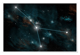Poster Premium  An artist's depiction of the constellation Cancer. - Marc Ward
