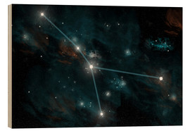 Stampa su legno  An artist's depiction of the constellation Cancer. - Marc Ward
