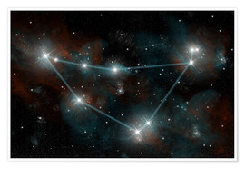 Poster Premium  Artist's depiction of the constellation Capricorn the Sea Goat. - Marc Ward