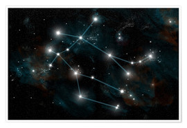Poster Premium  Artist's depiction of the constellation Gemini the Twins. - Marc Ward