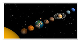 Poster Premium  Planets of the solar system - Elena Duvernay
