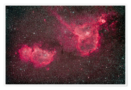 Poster Premium The Heart and Soul Nebula in the constellation Cassiopeia.