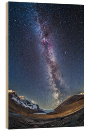 Stampa su legno  Milky Way over the Columbia Icefields in Jasper National Park, Canada. - Alan Dyer
