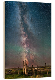 Stampa su legno  Milky Way over an old ranch corral. - Alan Dyer