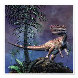 Poster Premium  Monolophosaurus was a theropod dinosaur from the Middle Jurassic period. - Philip Brownlow