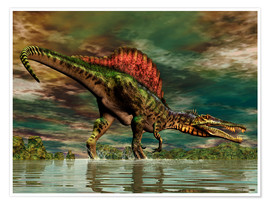 Poster Premium  Spinosaurus from the Cretaceous period - Philip Brownlow