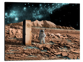 Alluminio Dibond  Astronaut on an alien world discovers an artifact that indicates past intelligent life. - Marc Ward