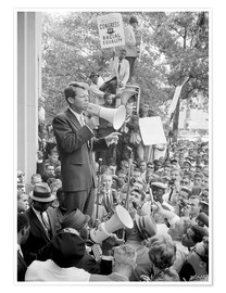 Poster Robert F. Kennedy speaking at a Congress of Racial Equality rally.