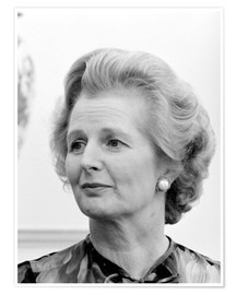 Poster Vintage photo of Margaret Thatcher.