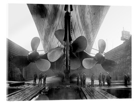 Vetro acrilico  Shipyard workers with the Titanic - John Parrot
