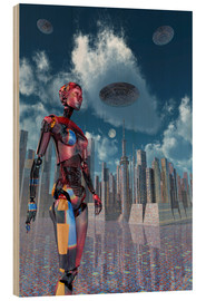 Legno  A futuristic city where robots and flying saucers are common place. - Mark Stevenson