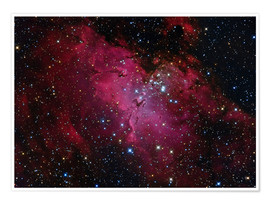 Poster Premium Messier 16, The Eagle Nebula in Serpens.
