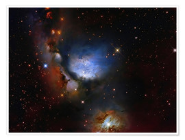 Poster Premium Messier 78, a reflection nebula in the constellation Orion.